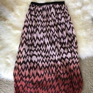 Chevron Ombré Maxi Skirt